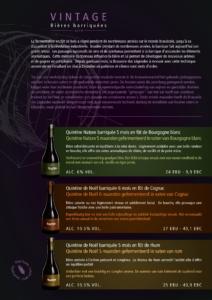 Descriptif des 3 bières barriquées