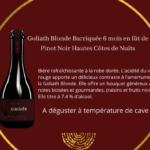 Bouteille de Goliath Blonde barriquée 6 mois en fût de Pinot Hautes Cotes de Nuits- 25 cl.